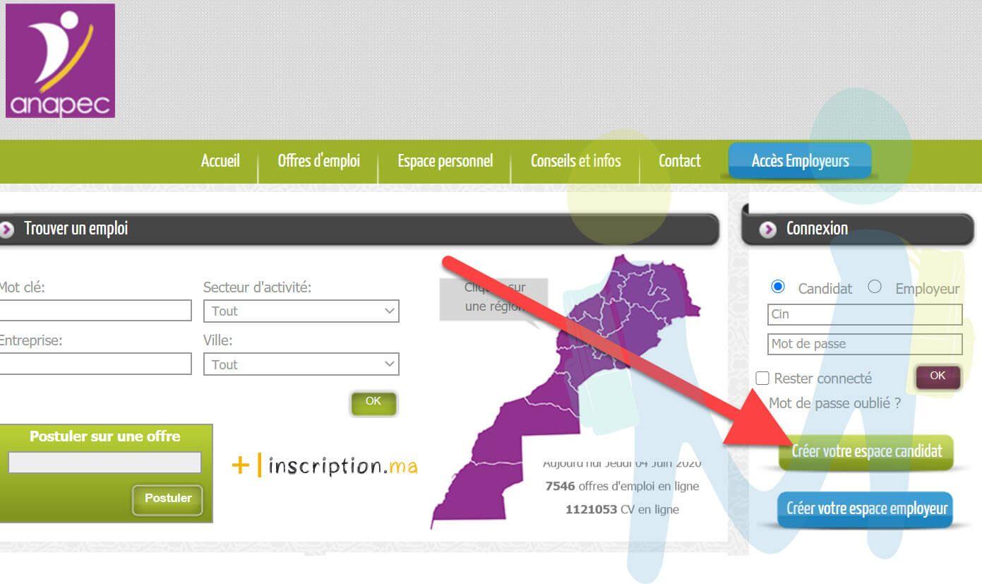 2020 Inscription Anapec التسجيل في انابيك الطريقة الجديدة Map Screenshot Map