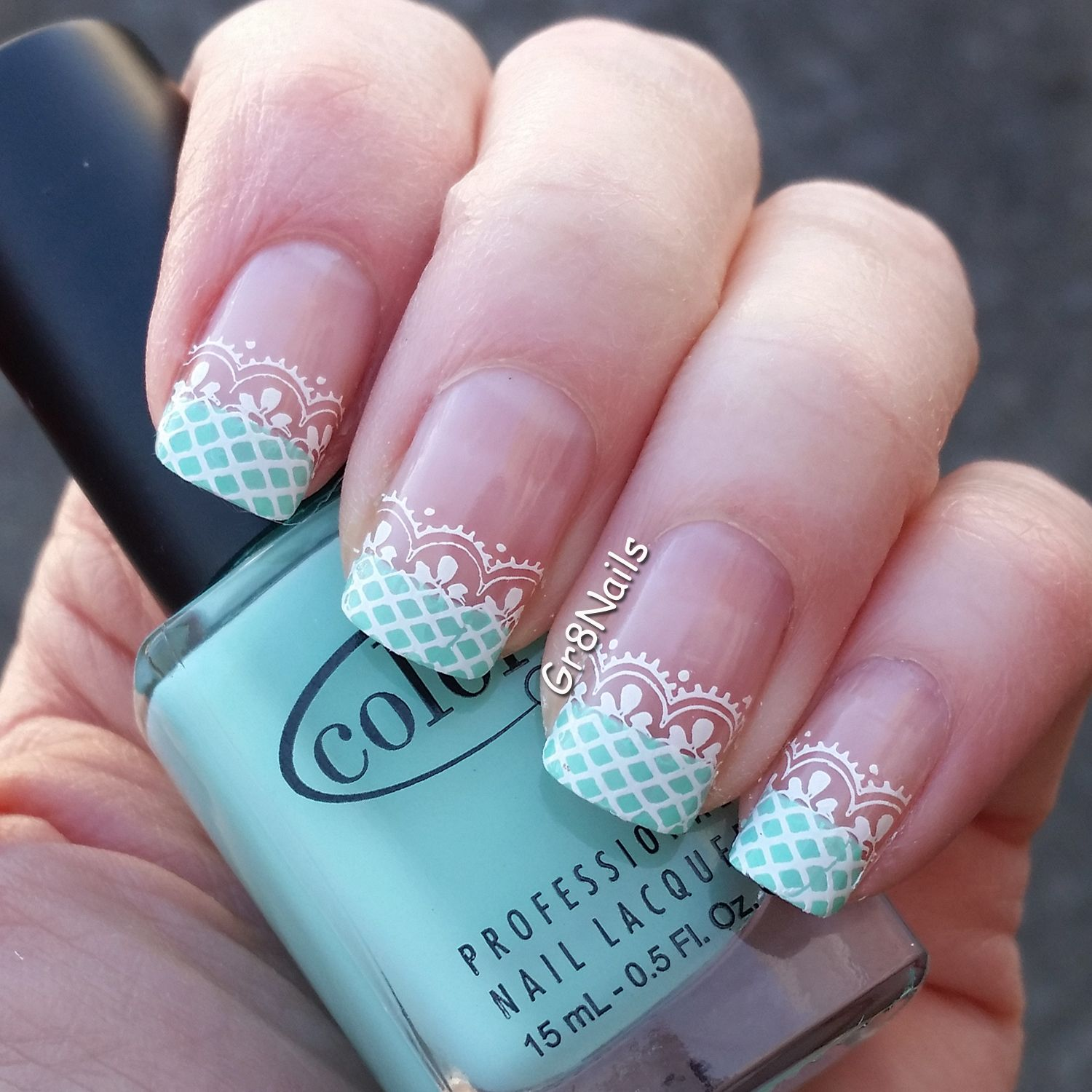 Nail art with konad nail stamping plate m color club
