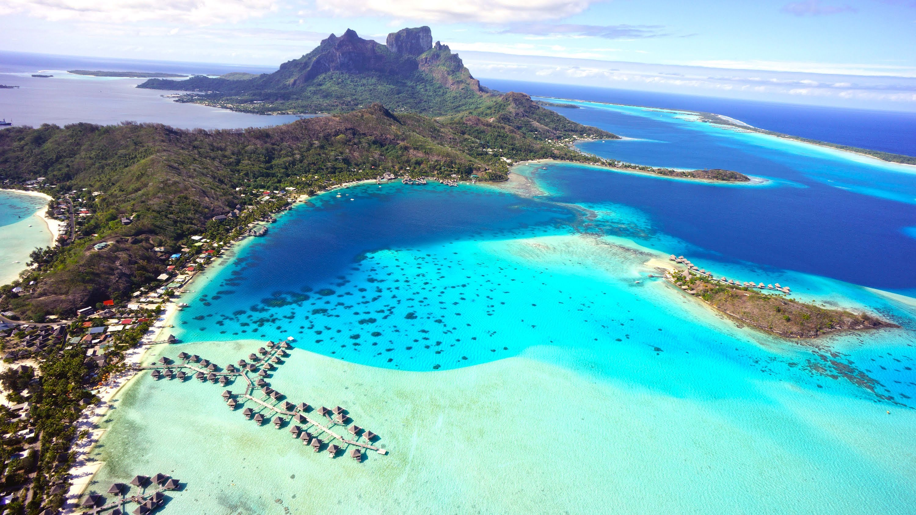 Bora Bora Helicopter Fly Over Island Hd Youtube Travel