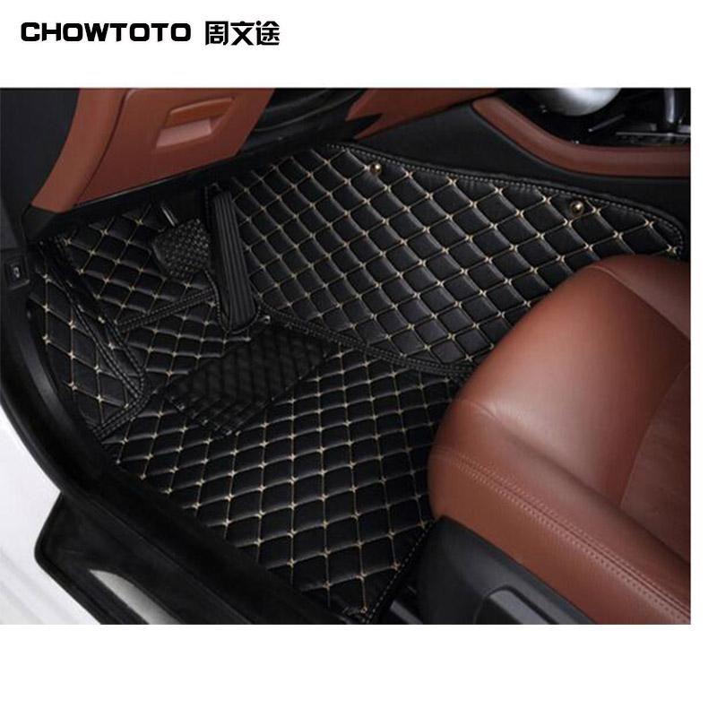 CHOWTOTO 7seats Non-slip Carpets For Prado Model Car-styling Foot