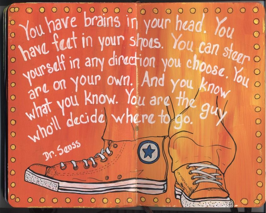 Draw Daily: Wise Old Dr. Seuss...and what to do about sticky journal pages