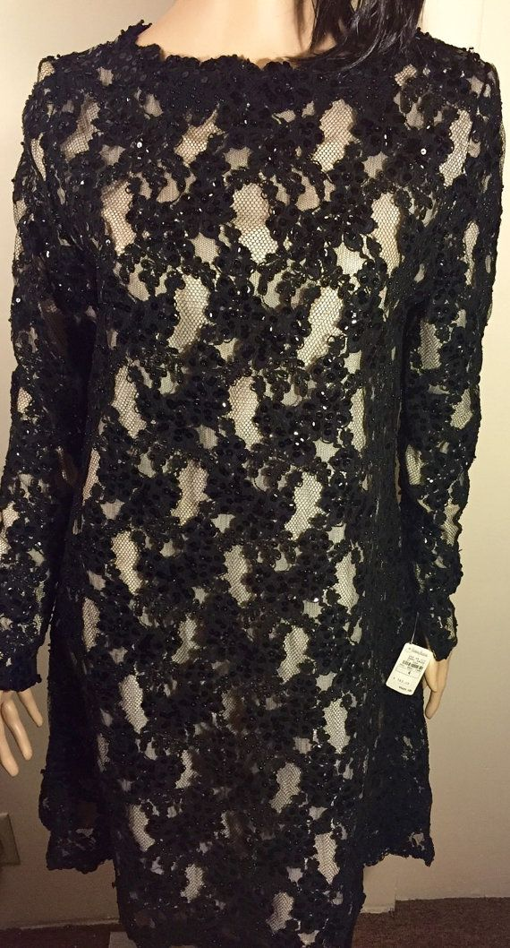 NWT Vintage Scaasi Beaded And Sequin Cocktail by TsBoutiqueandmore