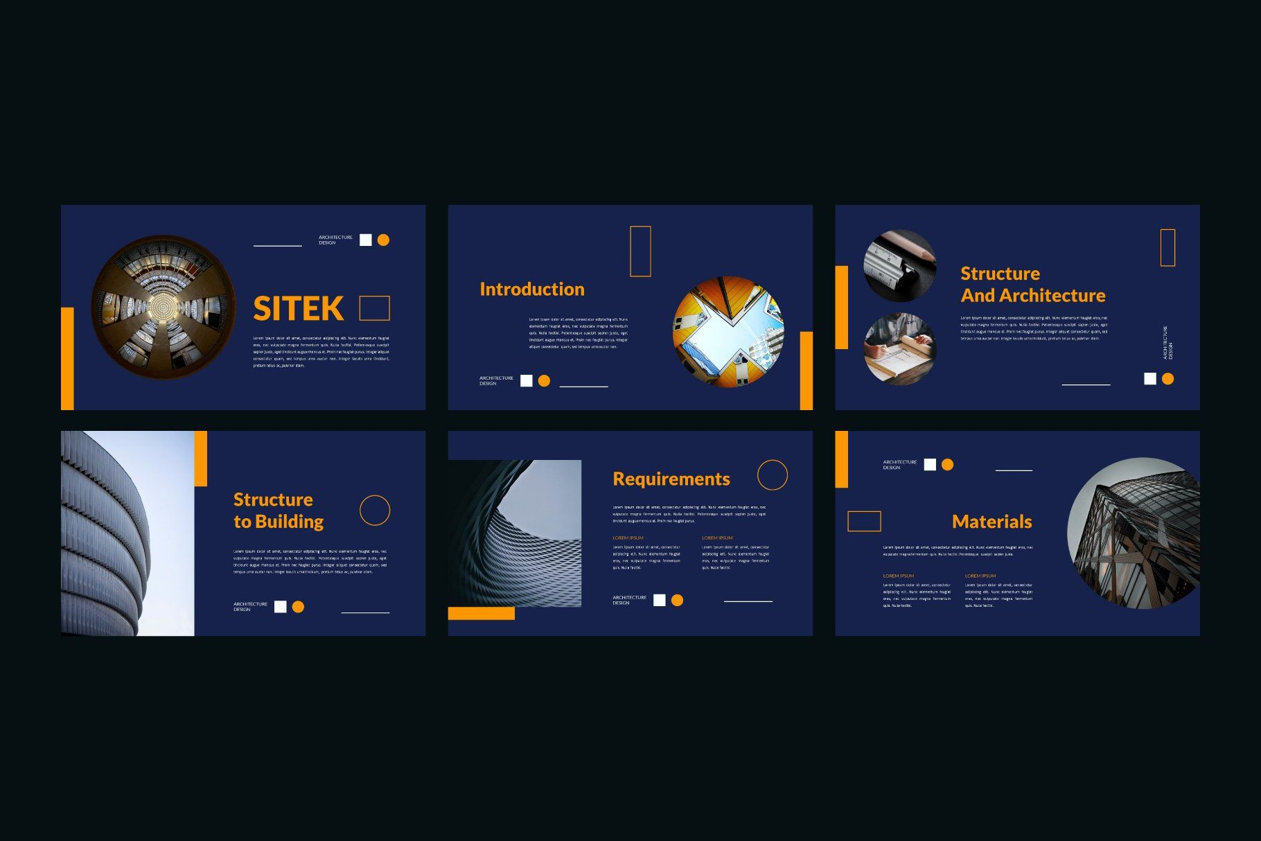 Sitek Architecture Powerpoint By Dankudraw On Creativemarket In