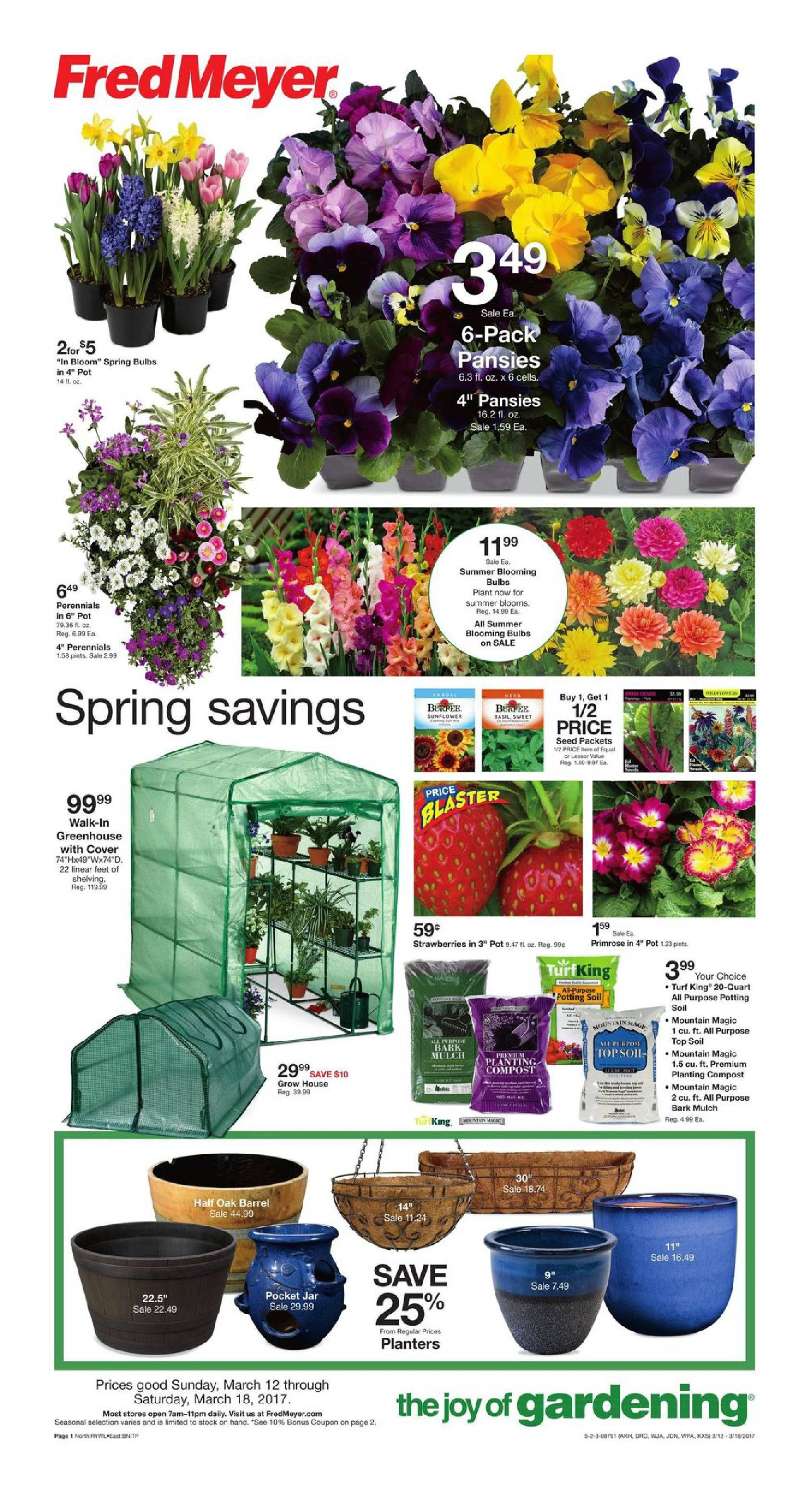 High Quality Fred Meyer Garden Center Ad March 12   18, 2017   Http://