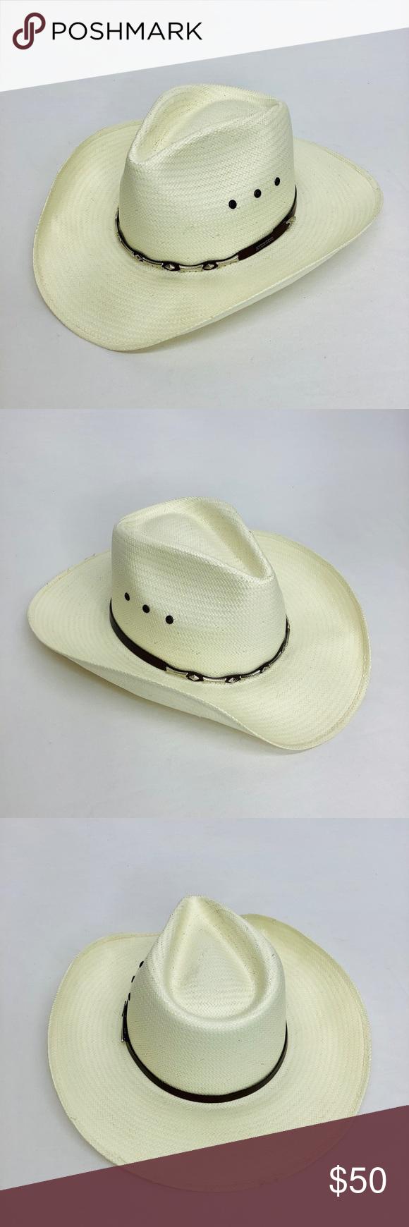 Stallion By Stetson Cowboy Western Hat Size M Stallion By Stetson Cowboy Western Hat Natural Straw Size Medium Stetson Accessor Hat Sizes Cowboy Western Hats