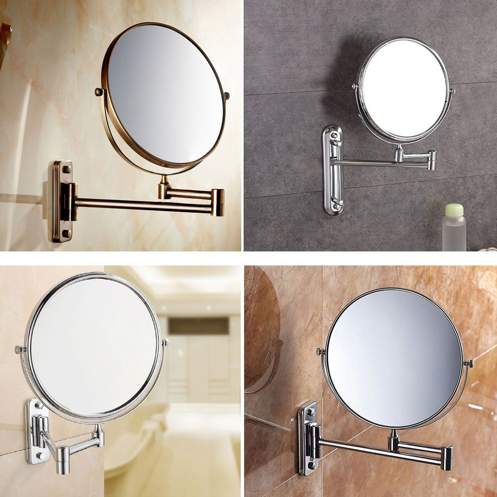 Magnifying Wall Mirror details about wall mounted bathroom folding extending arm makeup