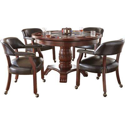 Red Barrel Studio Mcbride Dining Game Poker Table Set Products
