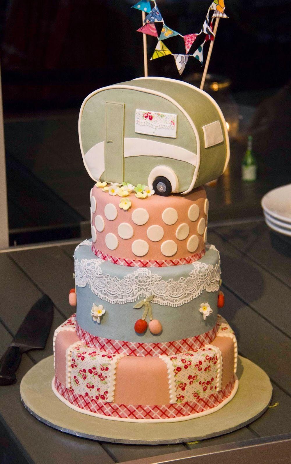 Retro caravan cake   Caravan cake, Cake, Cupcake cakes
