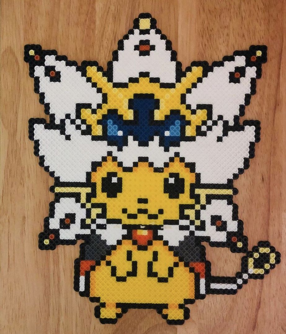 Solgaleo Pikachu Pokemon Cross Stitch Perler Beads Designs Pokemon Perler Beads