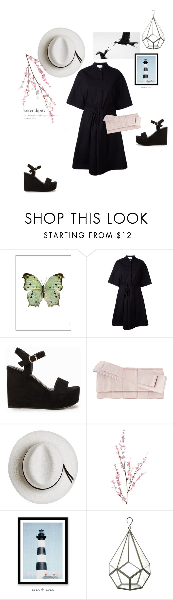 """""""Untitled #31"""" by ghmahi ❤ liked on Polyvore featuring Liljebergs, 3.1 Phillip Lim, Nly Shoes, John Lewis, Calypso Private Label and Pier 1 Imports"""