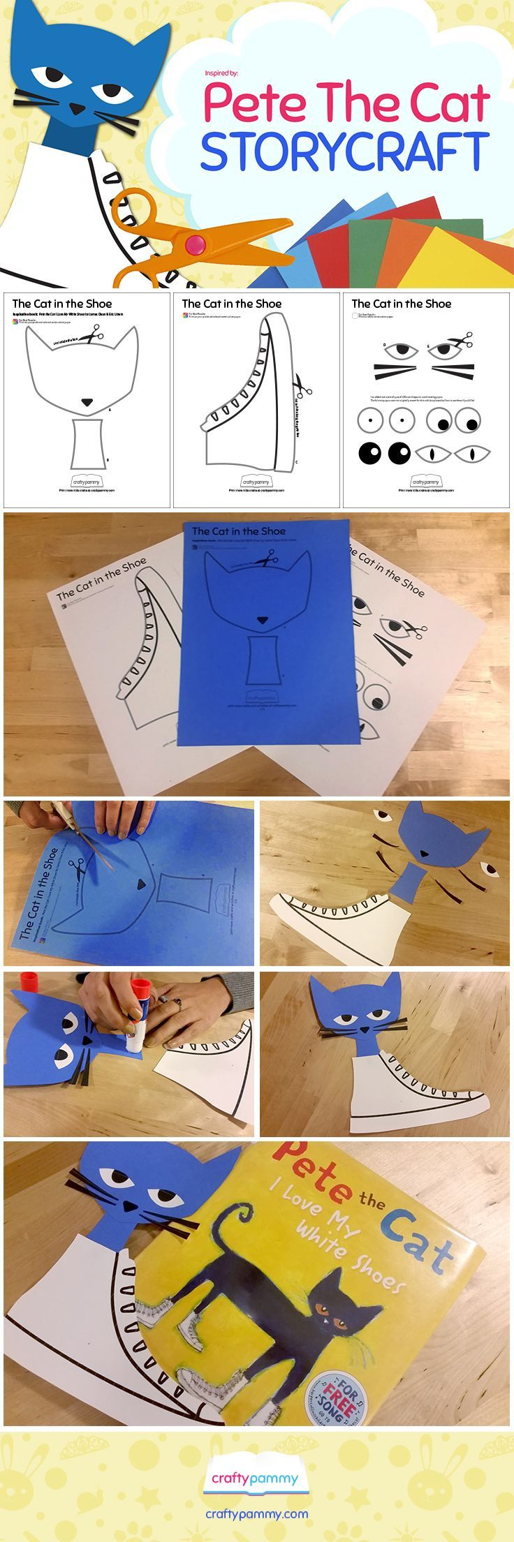 Create this Cat in the Shoe craft inspired by Eric Litwin & James ...
