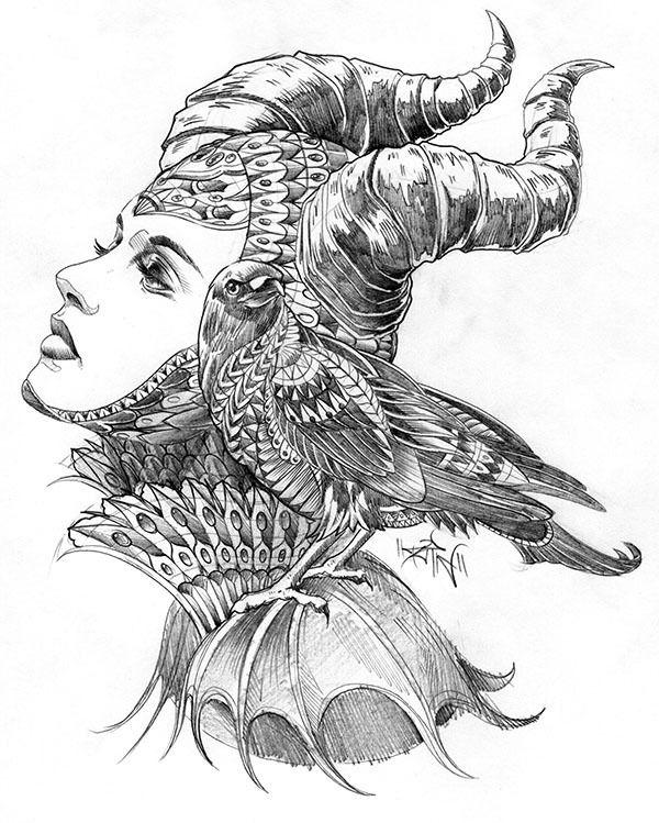 Maleficent Tribute Vector Illustration On Behance Tattoos