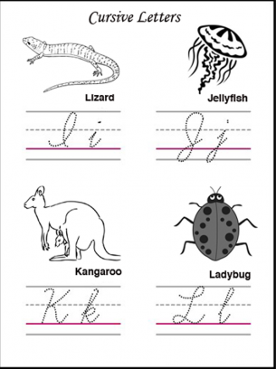 Cursive letters, Cursive and Worksheets on Pinterest
