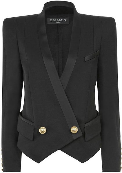 7bd99a6e BALMAIN Black Tuxedo Jacket - Lyst   MY HAUTE LYST   Jackets, Tuxedo ...