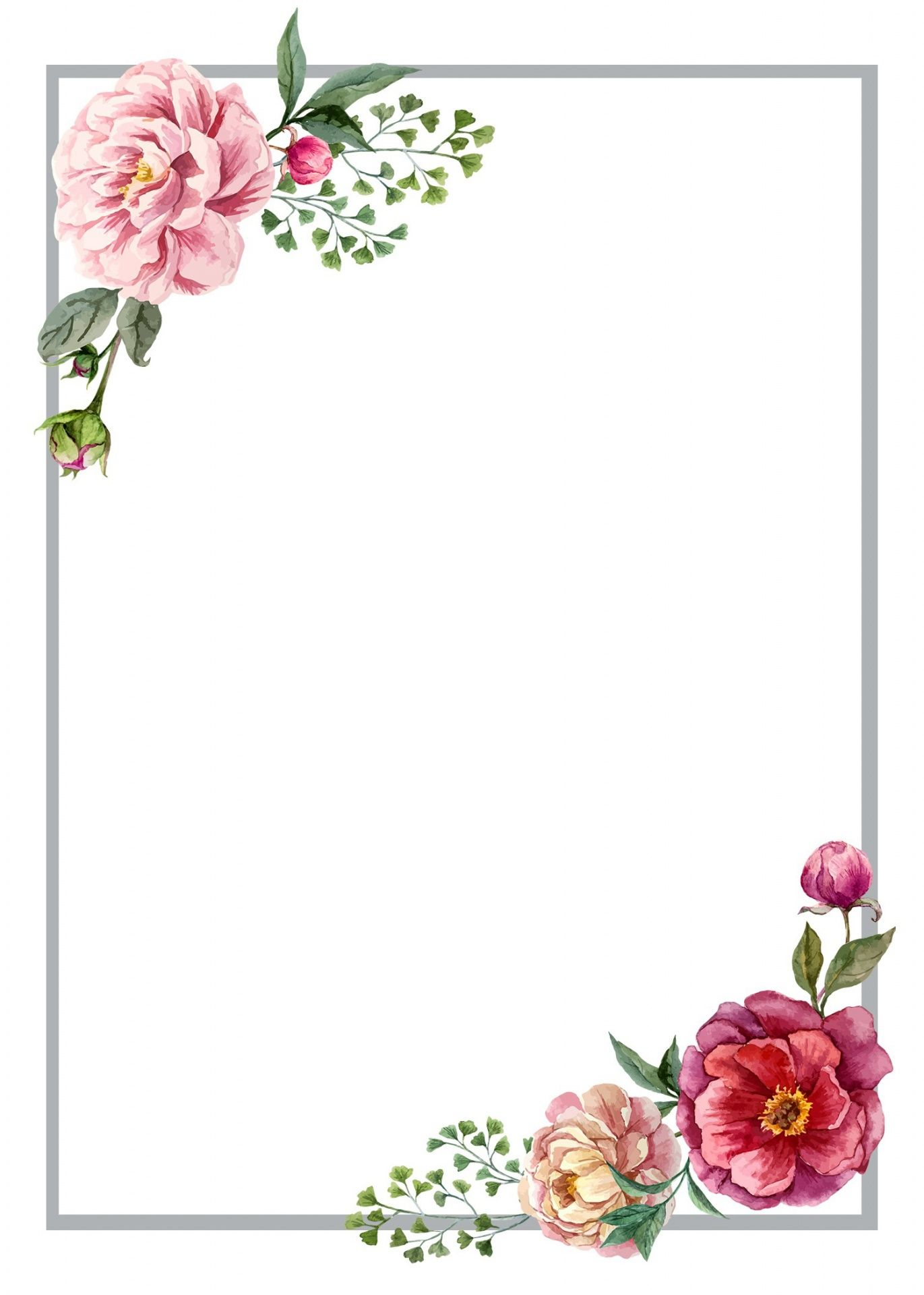 7 Flower Designs and a floral border Clipart for |Flower Border Designs For Wedding Cards
