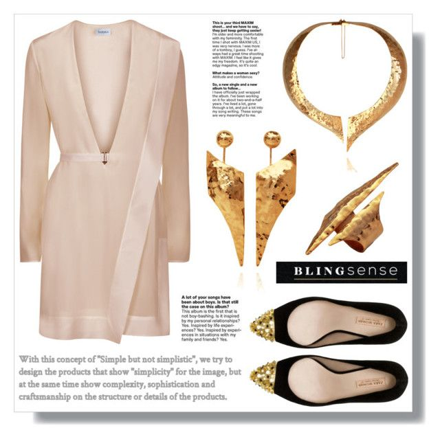 """""""BlingSense"""" by amra-sarajlic ❤ liked on Polyvore featuring Hera and Zara"""