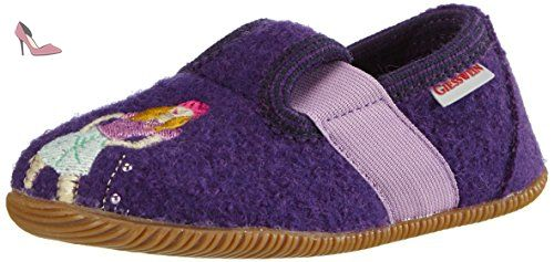 Chaussures Giesswein violettes fille