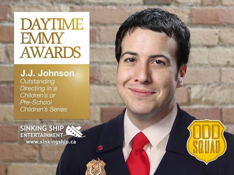 """From SSE: """"Congratulations to our very own J.J. Johnson on winning Outstanding Directing in a Children's or Pre-School Children's Series at this year's Daytime Emmys!"""""""