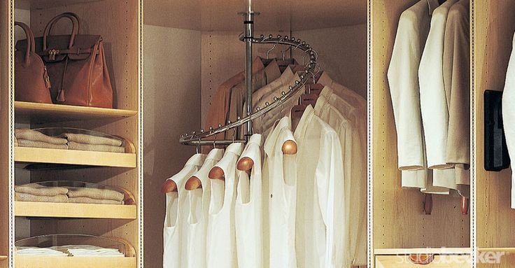 Superb Spiral Rod| Is Straight Up GENIUS! Corner Carousel For Hanging Shirts. Yes!