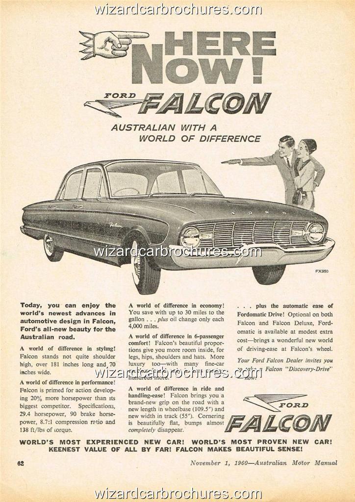 1960 ford falcon xk sedan a3 poster ad sales brochure ...