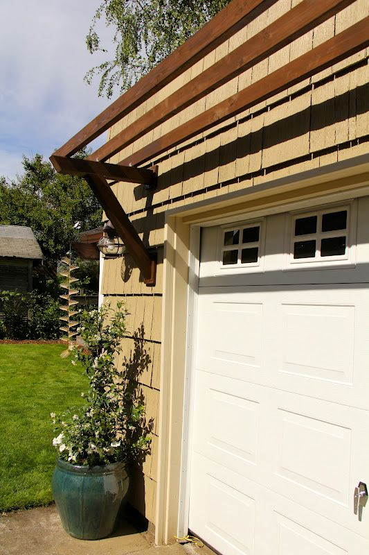Decorative Touch Pergola Over Garage Door From Life In