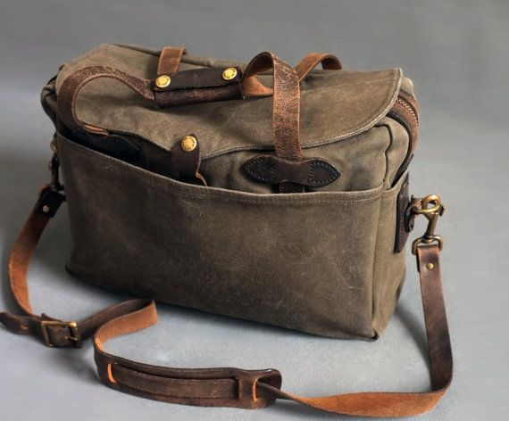 Vintage Filson 257 Briefcase Bag Distressed Collection By