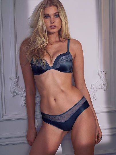 ebecc45fbd8 Cue everyone going through a blue period. This lace-trim bra is beyond  gorgeous!