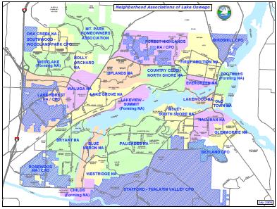 lake oswego neighborhood map Neighborhood Profile Lake Oswegos
