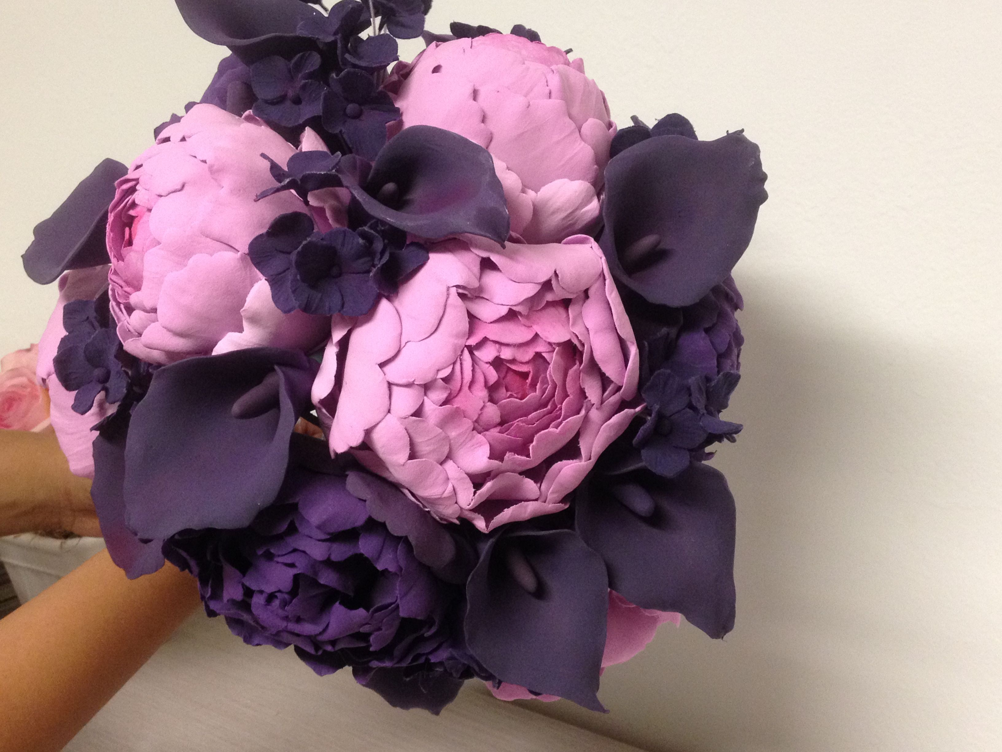 Wedding bouquet wedding clay flower bouquet clay flowers purple wedding bouquet wedding clay flower bouquet clay flowers purple and lavender clay flowers izmirmasajfo Images
