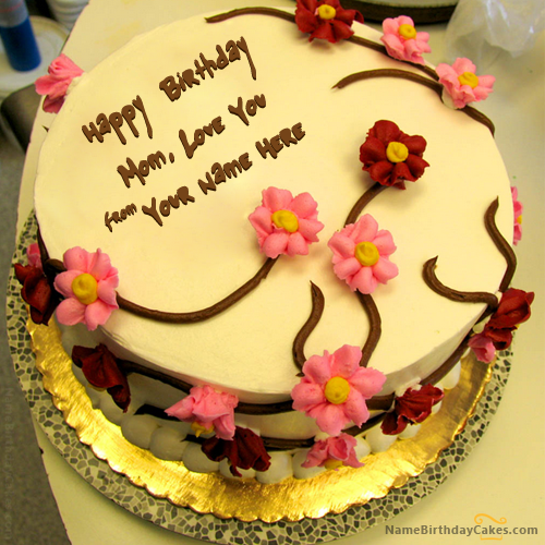Write name on Beautiful Birthday Cake For Mother Happy Birthday