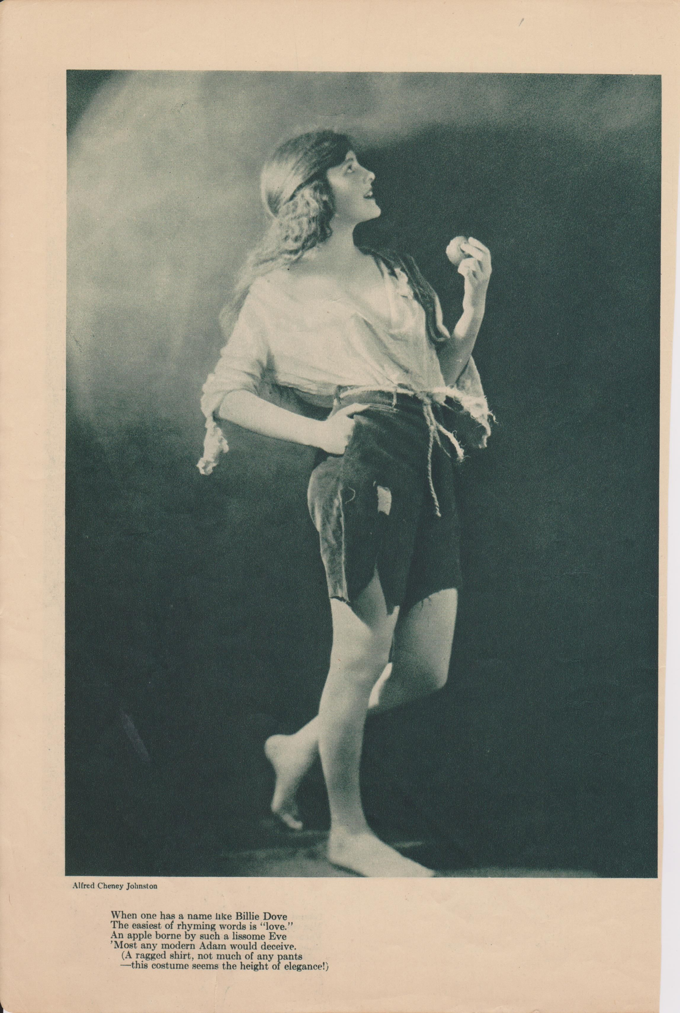 Billie Dove from Photoplay Magazine, April 1920, photo by Alfred Cheney Johnston