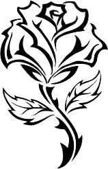 Rose Noire Stylisee Tattoo L Originale De Celle Postee Ci Avant