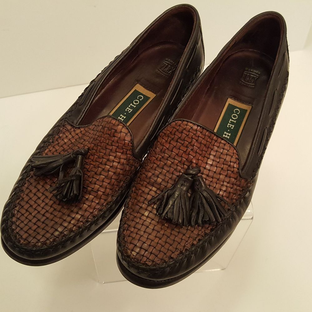 152cb3c4b303ac Cole Haan Woven Tassel Loafers 5B Black and Brown Flats Mocassins #ColeHaan  #LoafersMoccasins #Casual