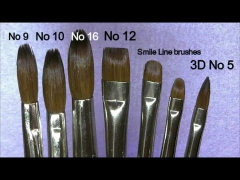 259 Alpha Acrylic Brush Review Absolute Nails Youtube Acrylic Nail Brush Diy Acrylic Nails Nail Brushes