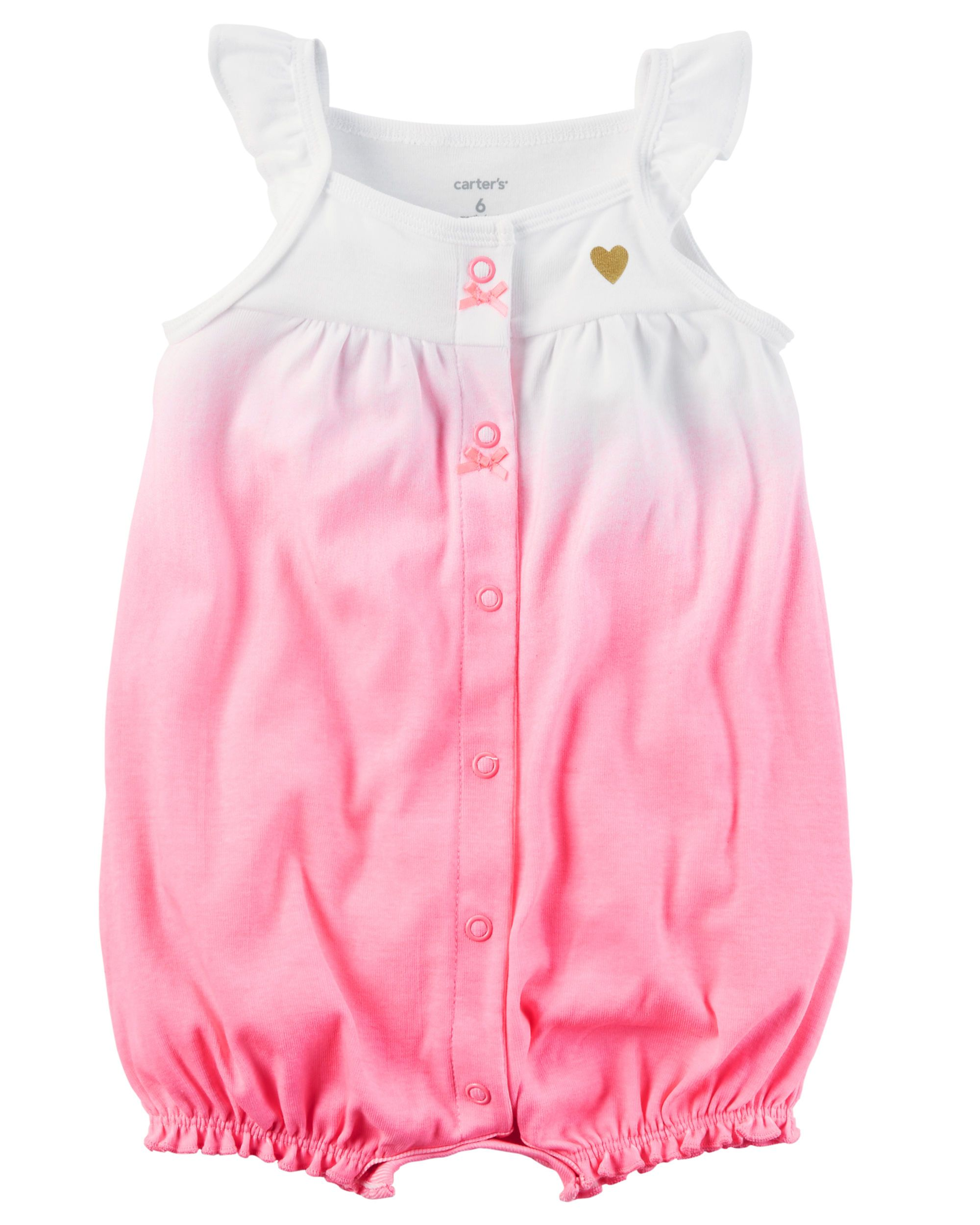 cd2e8e173 Baby Girl Snap-Up Cotton Romper from Carters.com. Shop clothing ...
