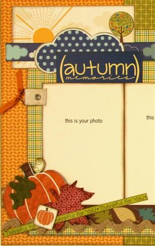 Autumn memories 2 page layout sneak (Small)