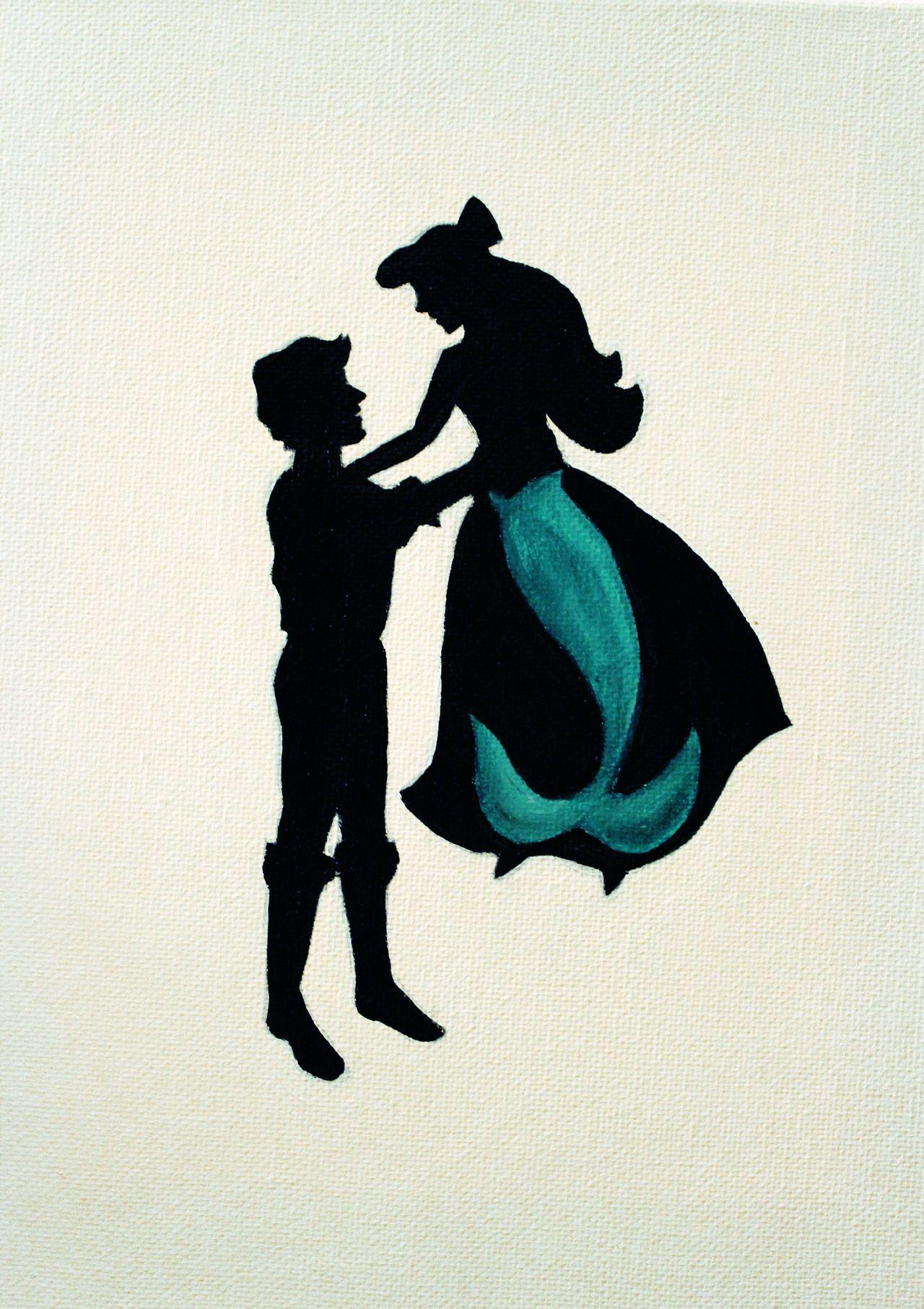 samanthaestherartwork Disney Silhouette Ariel Pinterest