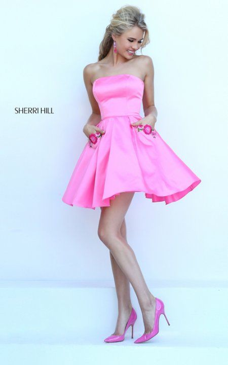 A Line Satin Sassy Pink Prom Dress | Trendy fashions | Pinterest ...