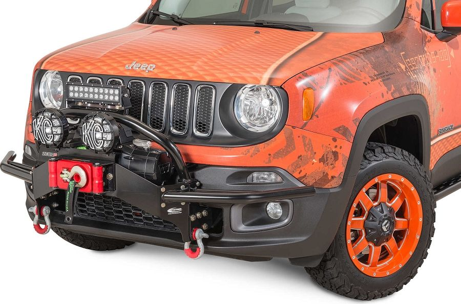 Jeep Renegade Winch Bumper Light Bar Mount By Daystar Jeep