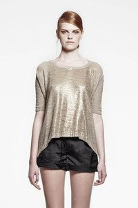 Style: H177_020Description: Knitted Hands Up JumperColour: GoldMaterial: 82% Acrylic, 18% PolyamideSizes: XXS - XS - S - M - L - XL