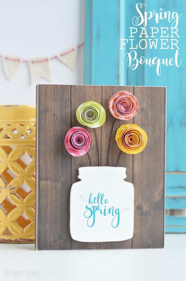 Spring Paper Flower Bouquet Paper Flowers Spring Crafts Paper