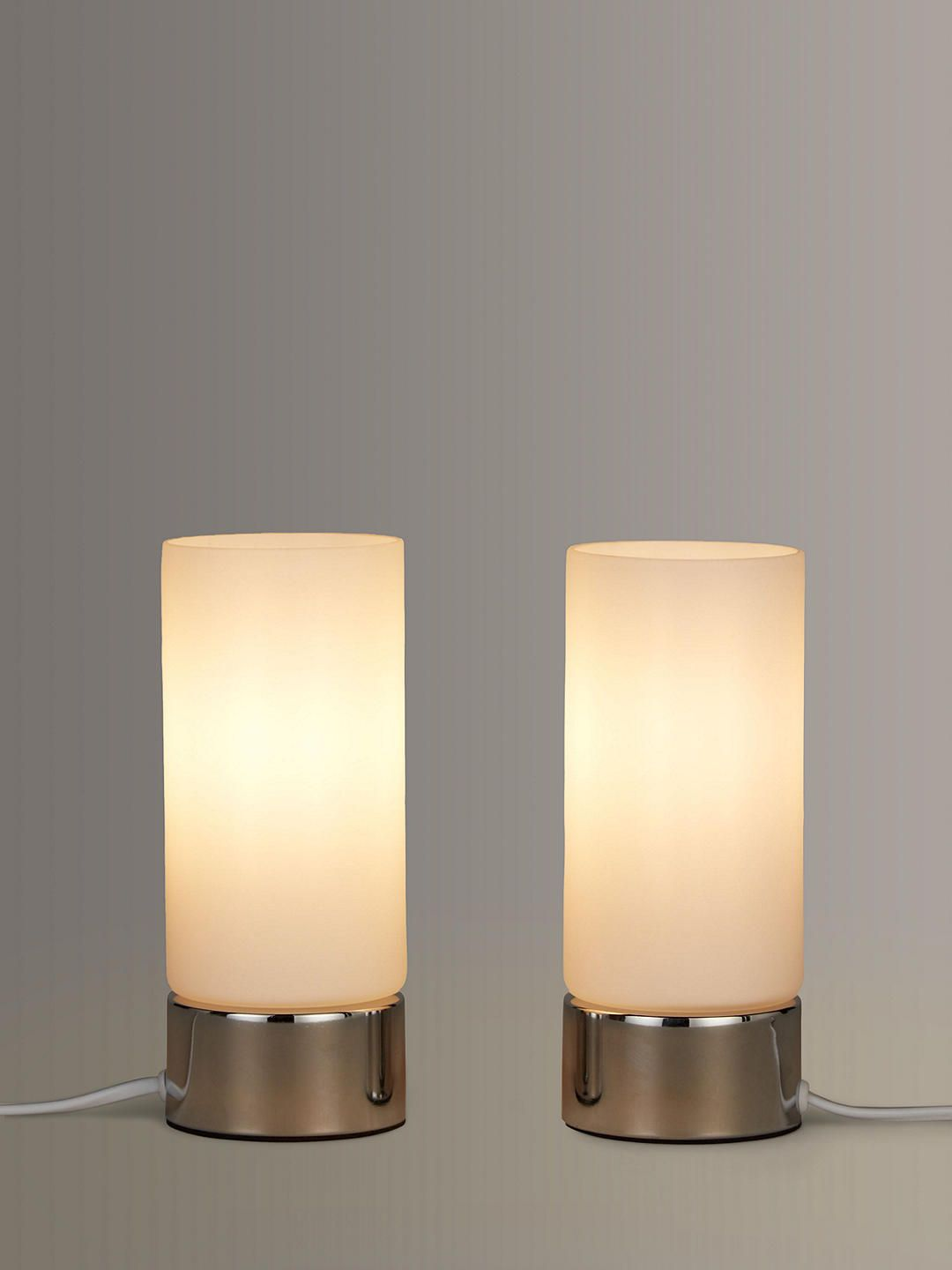 John Lewis Partners Cara Glass Touch Lamps Set Of 2 Touch Lamp Lamp Energy Efficient Bulbs