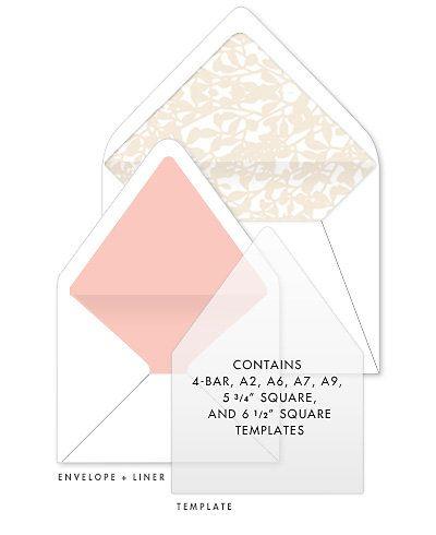 Envelope Liner Templates $1250 (can also buy at paper source - sample envelope liner template