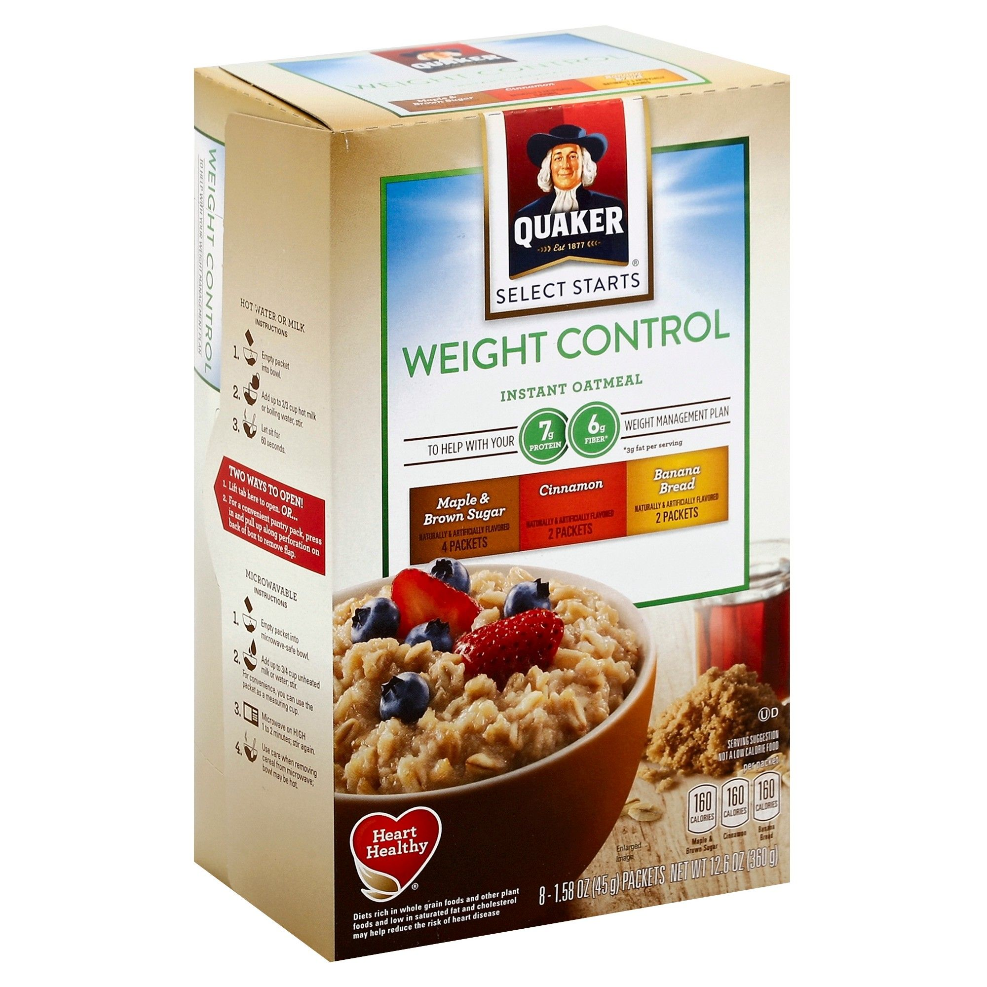 how many weight watchers points in quaker instant oatmeal
