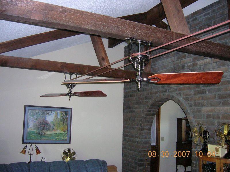 Belt Driven Ceiling Fans Antique