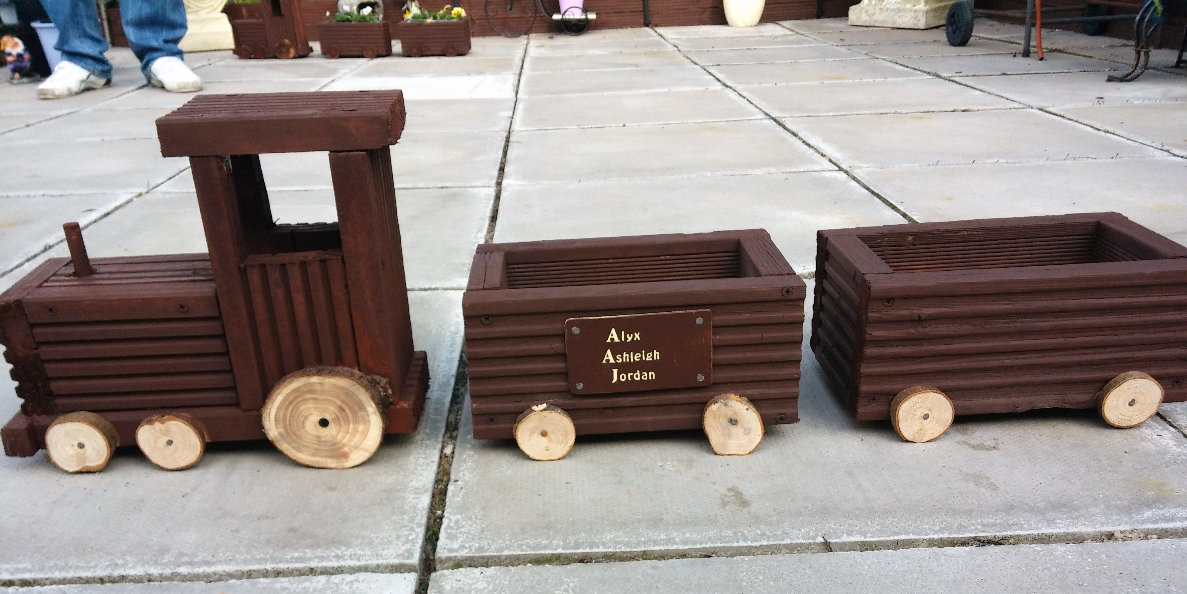 Train Planter I Made From Decking Boards