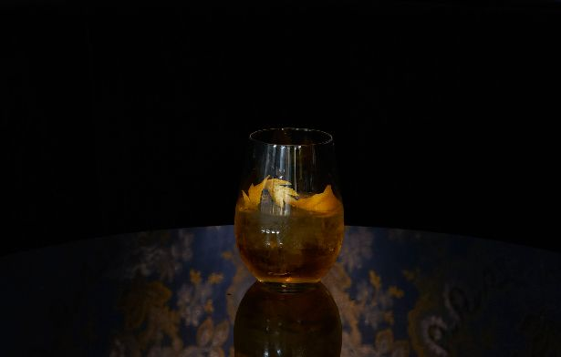 Angel Face * 20ml Bombay Sapphire * 20ml Calvados * 20ml Apricot Brandy (Giffard)