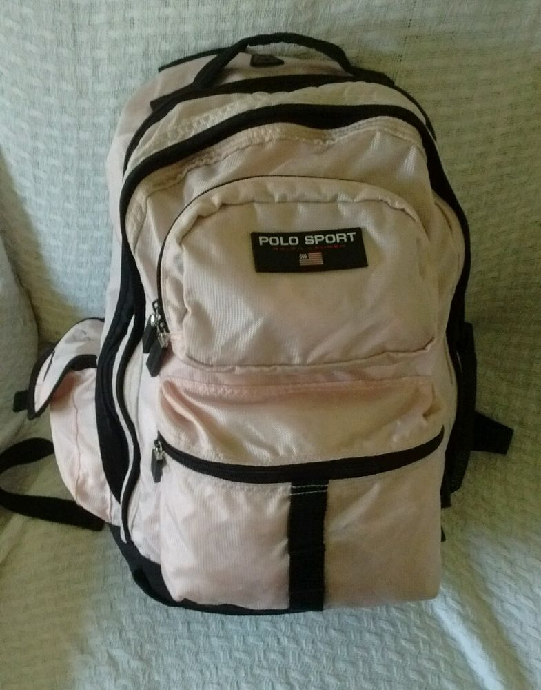 Vintage Polo Sport Woman's Pink Backpack Ralph Lauren Bag ...