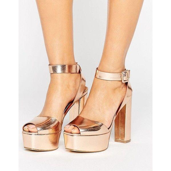 Glamorous Sandals50 Rose Gold Platform Heeled srCxthQd