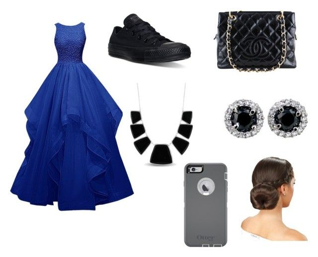 """""""Untitled #43"""" by sg164447 ❤ liked on Polyvore featuring Converse, Chanel, Karen Kane and OtterBox"""